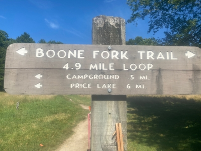 Boone Fork Trail in the Summer