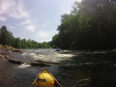 Tuckaseegee River with Friends